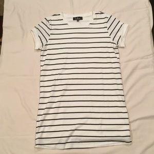 Lulu's Striped Bodycon T-shirt Dress